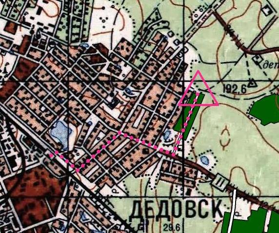 На окраине г. Дедовск, на ул. Пригородная.