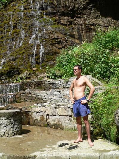 Водопад по пути в лагерь