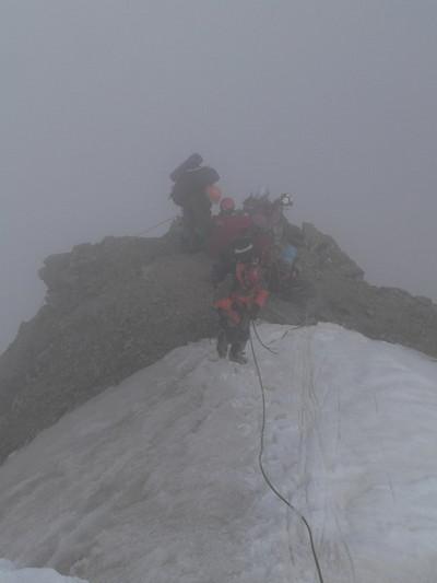 На вершине пика Есенина. Он же Безымянный, он же 4310, он же Кабардино-балкарский.