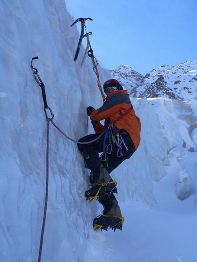 Ледовые занятия на леднике Кашкаташ