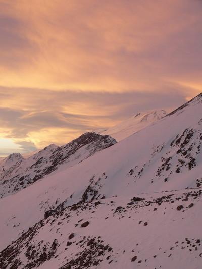 Закатные облака над Эльбрусом