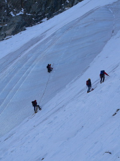 Начало снежно-ледовой 2Б на Курмычи