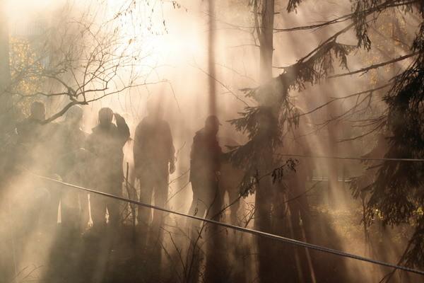 Результат работы дымовых шашек